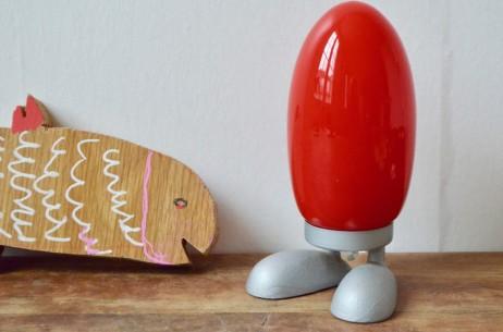 Veilleuse lampe de  Tatsuo Konno pour ikea rouge enfant zoomorphe vintage 1990