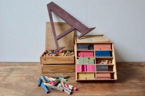 Boîte à calcul Montessori algèbre matériel pédagogique école enfant matériel bois scolaire Waldorf Steiner nature wooden school equipment