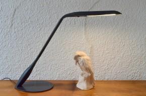 Lampe de bureau articulée cobra grise de Philippe Michel pour Manade Paris plastique