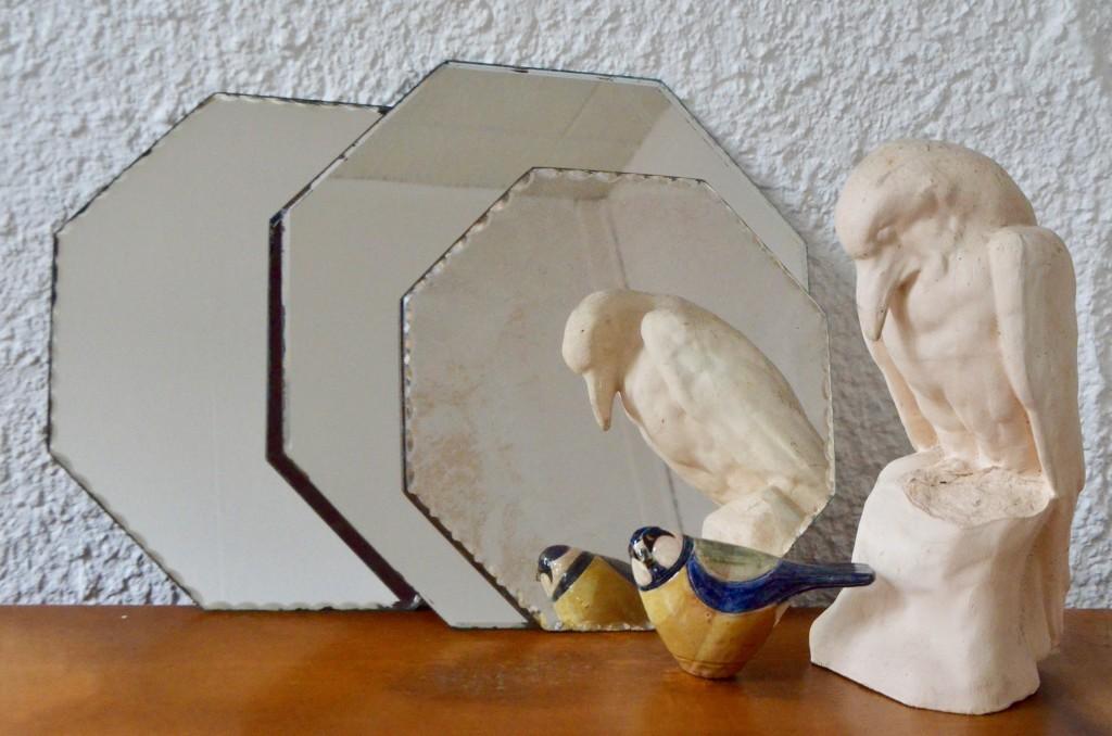 Trio de miroirs octogonaux