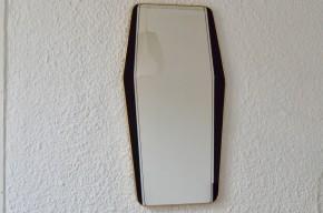 Miroir rétroviseur grande taille années soixante rockabilly forme diamant