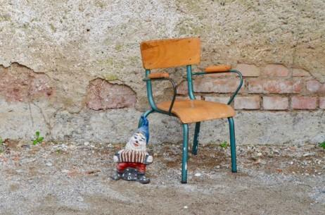 Chaise  enfant fauteuil de bureau mobilier d'école fauteuil de maître piétement tubulaire vintage rétro indus