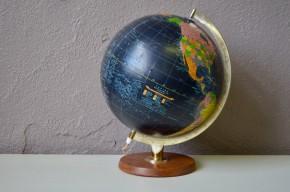 Globe terrestre lumineux mappemonde décoration voyage années Scan globe pour Taride