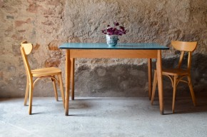 Table bistrot vintage années 50 piétement compas midcentury café cuisine french furniture fifties pop