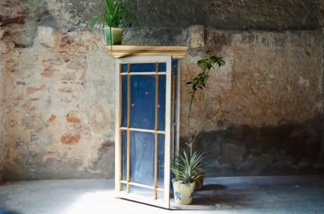 Vitrine niche à statue armoire chapelle bohème autentique 19ème siecle antique serre antic french deco church showcase bohemian deco