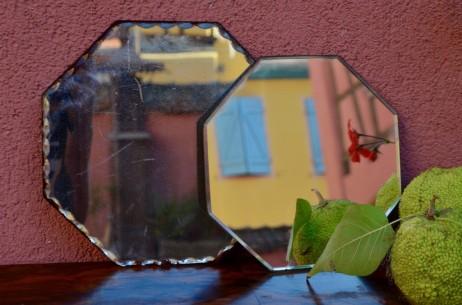 Miroir art déco vintage rétro octogonaux biseautés anciens décoration bohème