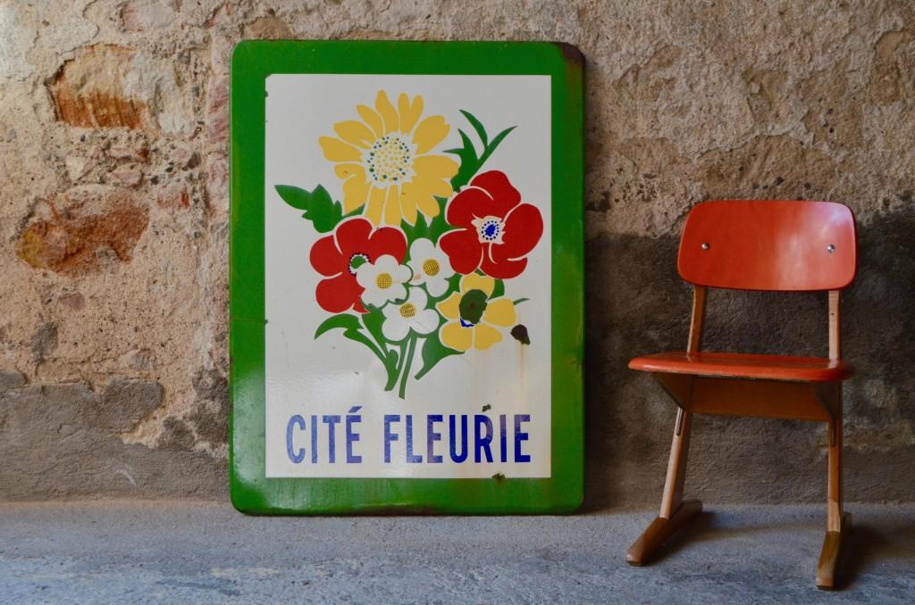 Grande plaque Citée Fleurie