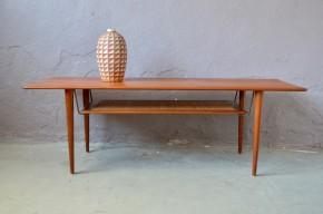 Table Basse Scandinave FD 516 en Teck par Peter Hvidt & Orla Mølgaard Nielsen pour France & Son, 1956