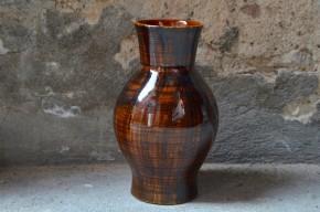 Vase saint clément lunéville vert grande taille signé travail français céramique
