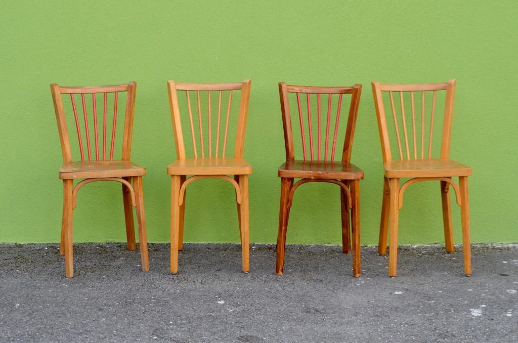 Série de chaises bistrot Baumann