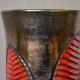 Vase aux fougères Elchinger fernand poterie Alsace forme libre bicolore