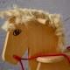 Cheval à bascule vintage rétro années 70 bois waldorf Montessori kid rocking horse wooden toy