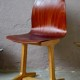 Chaise Adam Stegner Pagholz Flöttoto design années 60 mobilier scolaire vintage