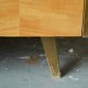 Chevet vintage rétro années 60 pieds compas bicolore bedside 0769