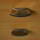 Chevet vintage rétro années 60 pieds compas bicolore bedside