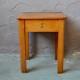 Paire de tabourets de cirage chevet vintage rétro meuble de métier années 50 bois coffre set of bedside table midcentury