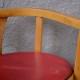 Chaise enfant Baumann vintage rétro chaise pot assise en skaï rouge