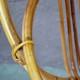 Paire de fauteuils design moderniste en rotin vintage rétro années 60 pietement en métal