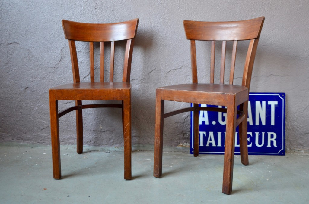 Paire de chaises bistrot Adèle