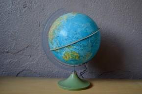 Globe terrestre vintage idéal pour une chambre enfant décoration vintage pour géographe en herbe