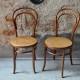 Paire de Chaises bistrot Fischel n°14 vintage rétro en bois courbé