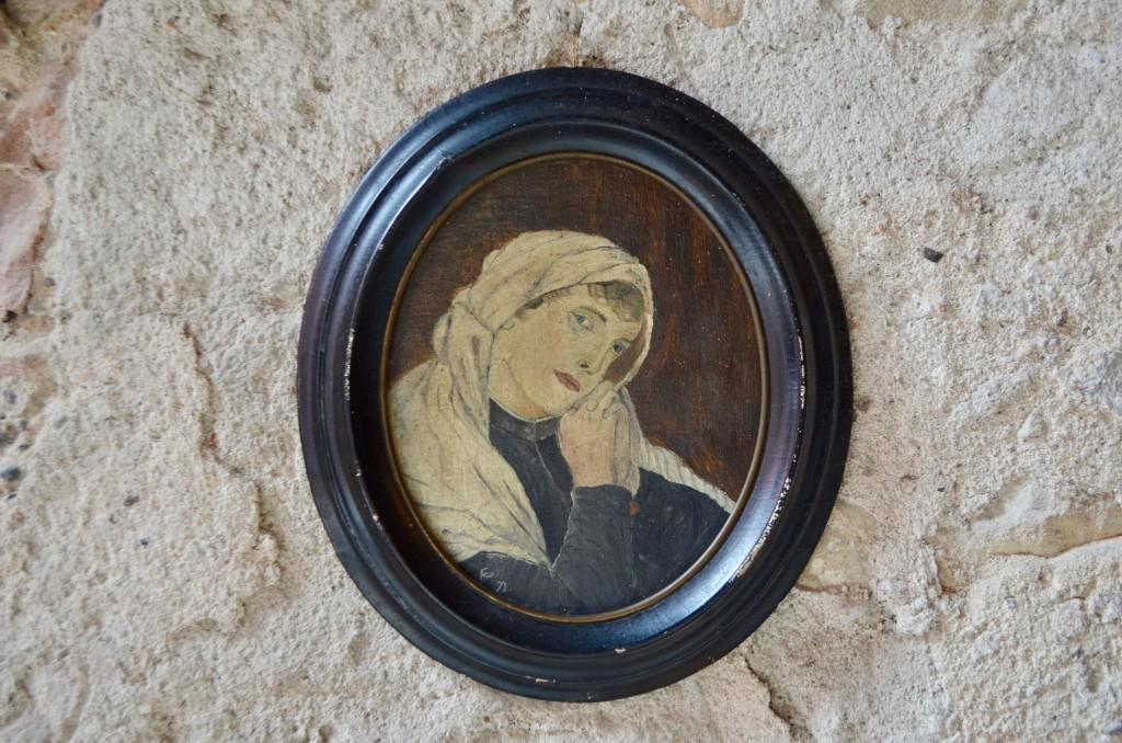 Portrait de femme en prière