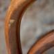 Série de 2 chaises bistrot vintage fischel anciennes brasserie dossier cintré