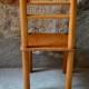 Petite chaise enfant vintage au design astucieux et minimaliste