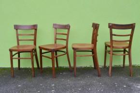 Cette jolie série de 4 chaises bistrot est aussi simple qu'efficace... Les lignes franches et sans fioriture, ainsi que la patine appuyée apportent beaucoup de caractère et d'authenticité. Classique indémodable, ces chaises rétro feront leur petit effet autour de la table, apportant une note bistrot chic à votre intérieur.