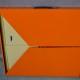 Meuble buffet pliable tout métal vintage orange et crème indus garage