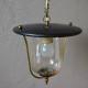 Lampe Suspension Plafonnier midcentury en métal et verre formes modernistes