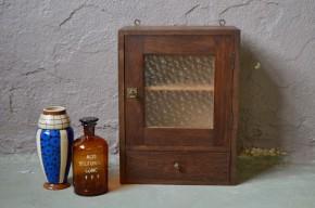 Armoire de salle de bain ou à  pharmacie vintage rétro shabby chic bois