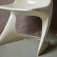 Chaise tout plastique Casalino Alexander Begge design 1970 Space age