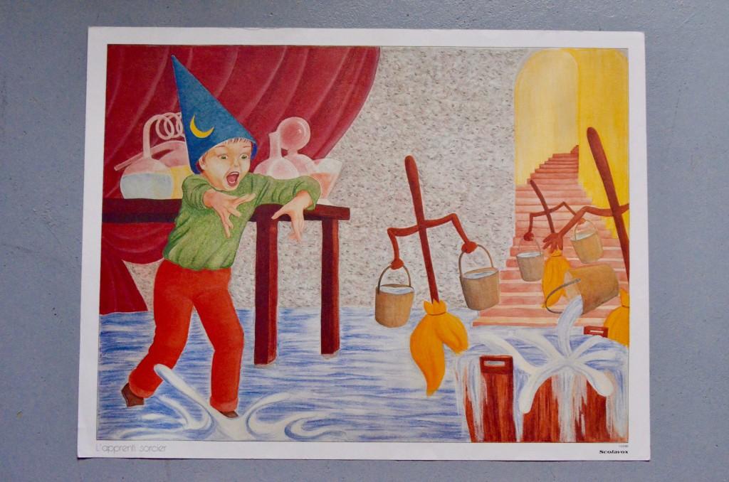 """Affiche scolaire """"L'apprenti sorcier & L'enfant et les sortilèges"""""""