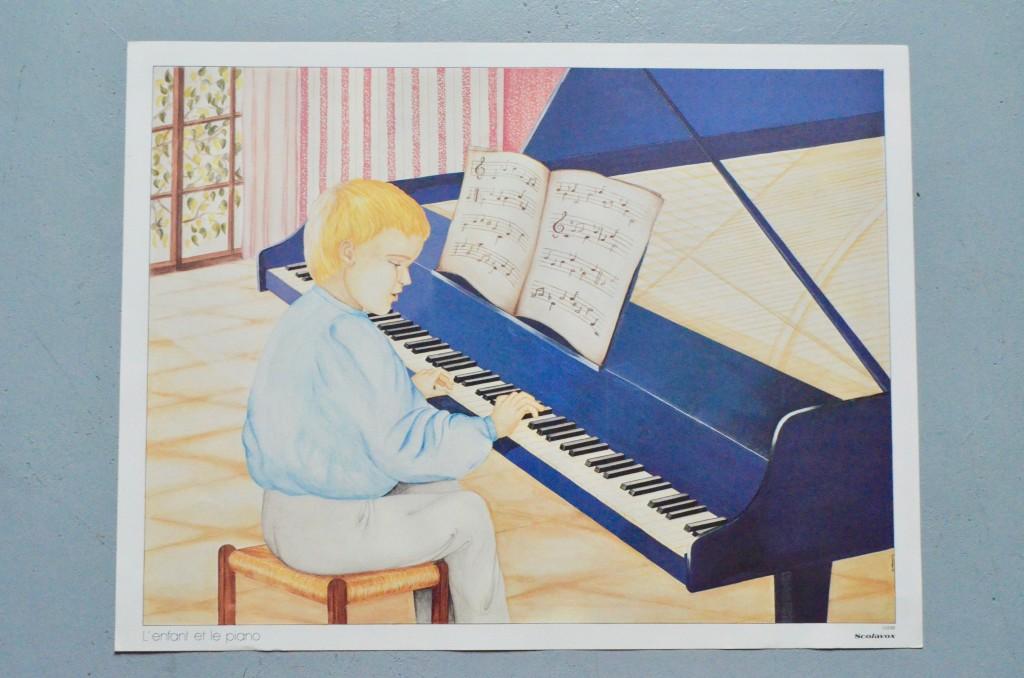 """Affiche scolaire """"L'enfant et le piano & Docteur Faust et le diable"""""""
