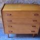 Commode en chêne vintage rétro années 60 piétement fuseau chambre enfant rétro chest of drawers