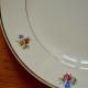 Assiettes plates série lot de 6 vintage fleurs service Dolly Faïencerie de Sarreguemines