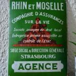 Plaque émaillerie de Strasbourg