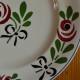Assiettes plates série lot de 6 vintage art déco service Bagatelle Longwy