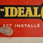 Plaque publicitaire Idéal Classic