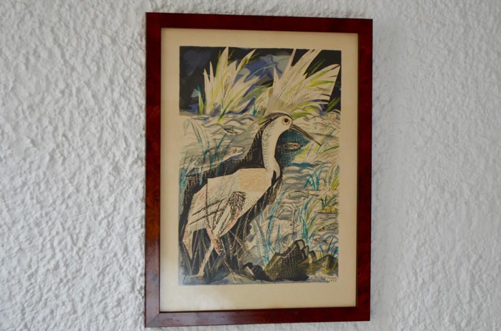 """Lithographie  Henry de WAROQUIER """"Le héron"""""""
