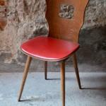 Lot de six chaises bistrot Baumann vintage modèle gentiane