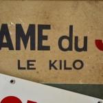 """Plaque """"Boucherie Sanzot"""""""
