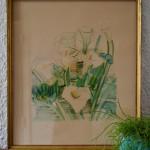 """Lithographie """"Les Arums"""" Raoul Dufy signée édition ancienne"""