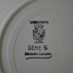 Service Gênes Faïencerie de Sarreguemines