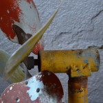 Eolienne girouette ancienne objet de décoration indus curiosité