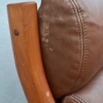 Ensemble fauteuils et Canapé banquette danois de Georg Thams pour Vejen Polstermøbelfabrik en teck et cuir