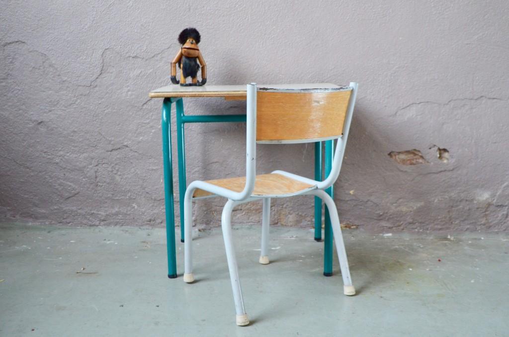 """Bureau et chaise enfant """"gris perle """""""