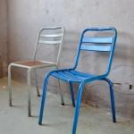 Chaise en métal vintage rétro xavier pauchard bauhaus métal indus atelier tolix