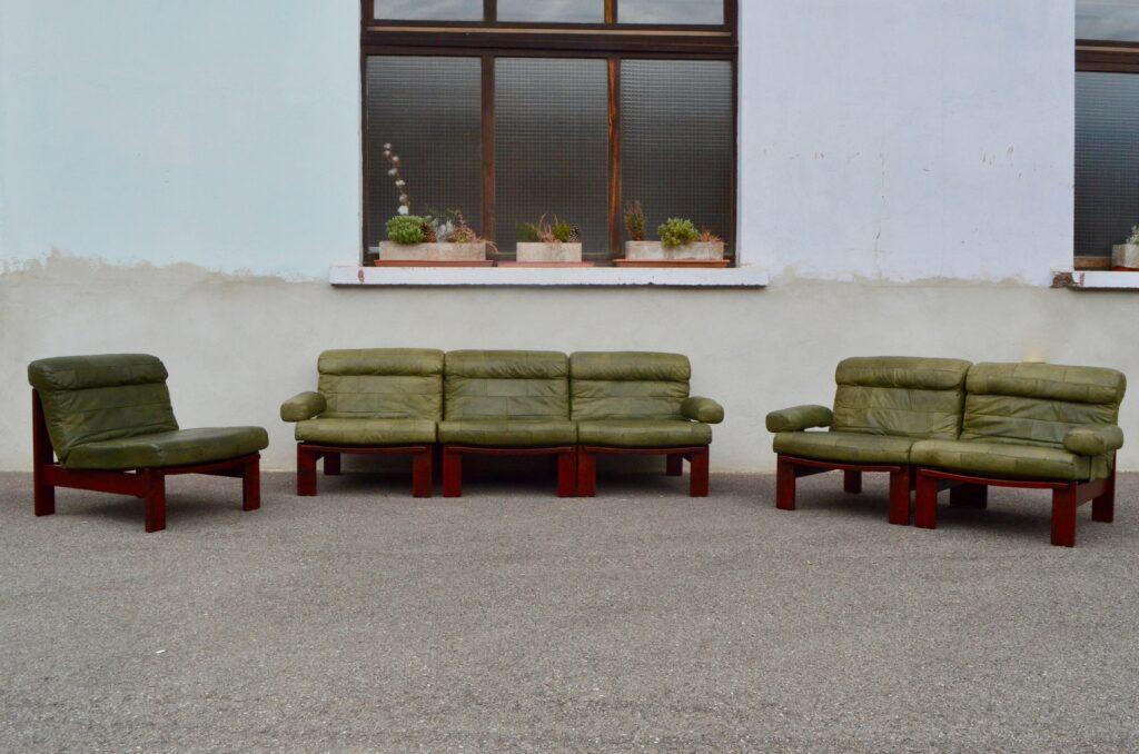 Canapé modulable en cuir